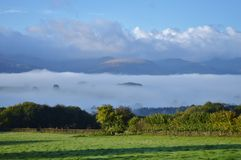 Usk Valley clouds Royalty Free Stock Photography