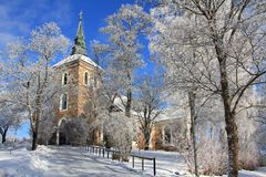 Uskela Church in Salo, Finland Royalty Free Stock Images