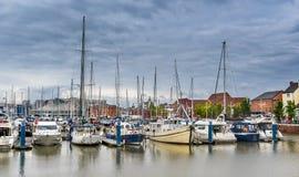 Łuski Marina w Yorkshire Obraz Stock
