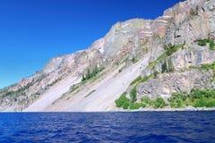uskoków krateru jeziora. Zdjęcia Royalty Free
