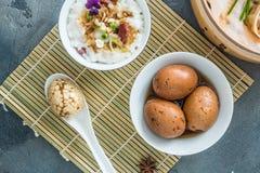 Uskorupionego Ciężkiego Gotowanego chińczyka Wykładający marmurem lub Herbaciani jajka Obrazy Stock