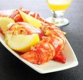 Uskorupiony homara posiłek Zdjęcie Royalty Free