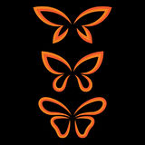 Uskrzydla motyla set Obrazy Stock