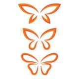 Uskrzydla motyla set Fotografia Royalty Free