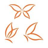 Uskrzydla motyla set Zdjęcie Stock
