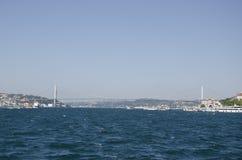 Uskudar Bosphorus bridge. First Bosphorus Bridge in Istanbul, Turkey Stock Photos