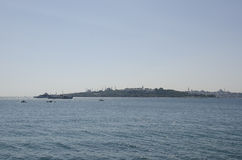 Uskudar Bosphorus Historical peninsula. Istanbul Uskudar Historical peninsula view Stock Photography