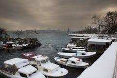 Uskudar fishing boats - Turkey stock photo