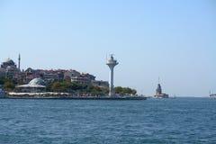 Uskudar från Bosphorus Arkivfoto