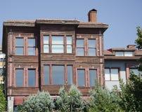 Uskudar old turkish house. Brown wooden Turkish house in Harem Stock Photo