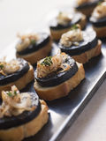 usmażę cebuli morcilla hiszpanii Obraz Stock