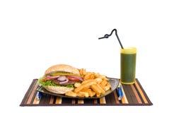 usmaż hamburgera Zdjęcia Stock