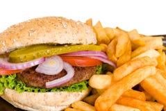 usmaż hamburgera Zdjęcie Stock