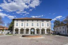 Usmate Velate, villa historique Scaccabarozzi Photographie stock libre de droits
