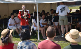 USMB-clarinetist på picknickPops Royaltyfri Fotografi