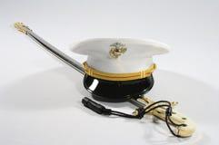 USMC剑和盖子 免版税图库摄影
