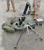 USMC 60mm Mortar. The U.S. Marine Corps Lightweight M224 Mortar royalty free stock images
