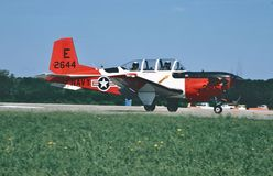 USMC Beech T-34C Mentor. Royalty Free Stock Images