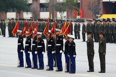 USMC Graduation Honor Recruits Stock Photos
