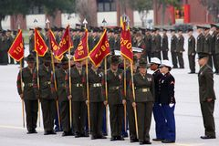 USMC Graduation Parris Island Stock Photo