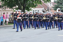 USMC Marine Forces Reserve Band in a Parade Royalty Free Stock Photo
