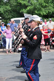 USMC Marine Forces Reserve Band in Parade Royalty Free Stock Photography
