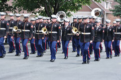 The USMC Marine Forces Reserve Band in Parade Royalty Free Stock Photography