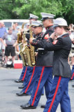 USMC Marine Forces Reserve Band Performs in Parade Stock Photography