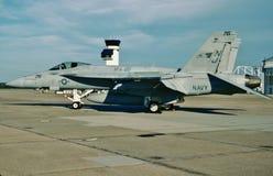 USN麦克当诺道格拉斯公司F/A-18F BuNo 1675661 免版税库存照片
