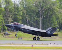USN F-35 fighter jet. Royalty Free Stock Photography