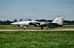 USN Grumman F-14A Tomcat BuNo 16210 ready for its next mission at NAS Oceana on October 1, 2004. United States Navy Grumman F-14A Tomcat BuNo 16210 CN 532 of VF stock image