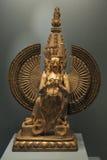 Usnisasitatapatra Skulptur av den kvinnliga bodhisattvaen i Mahayana buddism royaltyfria bilder