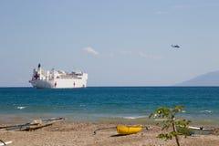 USNS Gnadendocks in Dili, Osttimor Lizenzfreies Stockbild
