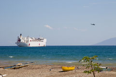USNS Mercy docks in Dili, Timor Leste Royalty Free Stock Image