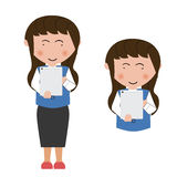 Uso asiático de la mujer joven de la PC de la tableta Fotos de archivo libres de regalías