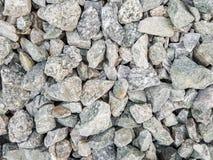 Uso cinzento das pedras da cor para a fundação da estrada de ferro Imagens de Stock Royalty Free