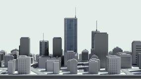 Uso conmovedor de las propiedades inmobiliarias, edificio construido en un teléfono elegante 3 ilustración del vector