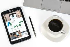 Uso de Google AdWords Fotos de archivo libres de regalías