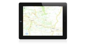 Uso de Google Maps en el iPad de Apple metrajes
