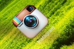 Uso de Instagram Fotos de archivo