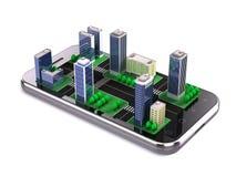 Uso de la ciudad, concepto de la navegación Imagen de archivo libre de regalías