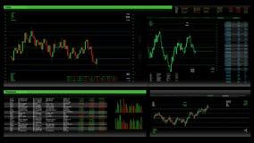 Uso de la compra y venta de acciones/interfaz ilustración del vector