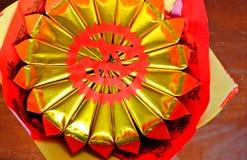 Uso del arte del papel chino para la adoración Fotografía de archivo libre de regalías