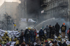 Uso del jet en Kiev, Ucrania Imagen de archivo libre de regalías