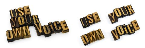 Uso del messaggio la vostra propria voce Immagine Stock Libera da Diritti