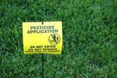 Uso del pesticida Imagen de archivo