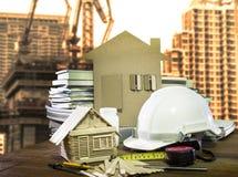 Uso di industria della casa dello strumento e dell'attrezzatura e della costruzione di edifici Immagine Stock Libera da Diritti