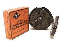 USO EDITORIAL da película e do carretel de 16mm Afga SOMENTE imagem de stock
