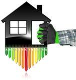 Uso eficaz da energia - símbolo na forma da casa Fotos de Stock