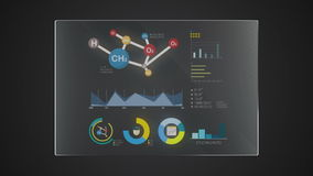 Uso gráfico del indicador digital de la interfaz de usuario de la 'ciencia' del panel de la tecnología de la información stock de ilustración